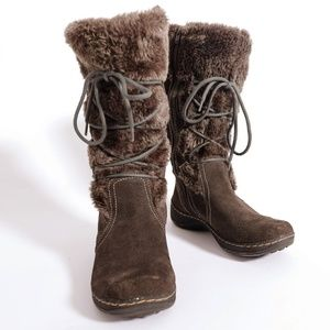 BareTraps Elicia furry winter brown boots, size 9